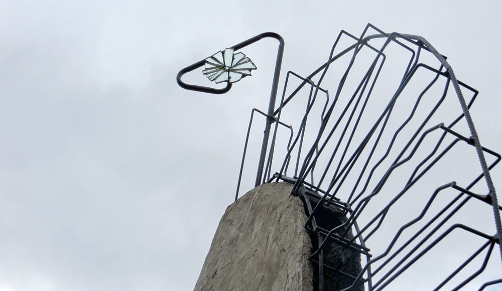 Top of the Gustometer outdoor sculpture