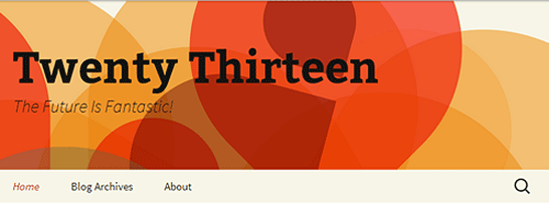 Twenty Thirteen WordPress theme